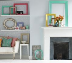 Picture This.  Painted frames as groupings.