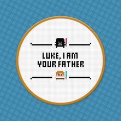 hoopLuke, I am your father - Cross Stitch Pattern - Free Download