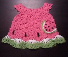 Free Crochet Watermelon Dress Pattern : watermelon crochet on Pinterest American Girl Crochet ...