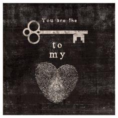 Key to My Heart Canvas Print