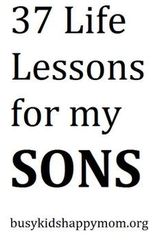 Lessons for Boys