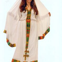 Habesha dress - Zenbaba (ዘንባባ ጥልፍ)Ethiopian clothing | Eritrean clothes | Habesha dresses