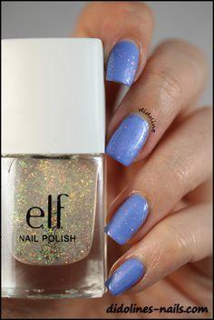E.L.F: Pixie Dust (1x) Swatch over E.L.F Lavender Mist