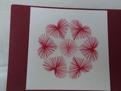 Card, hearts, friendship, friends, hand stitched, prick and stitch, wine