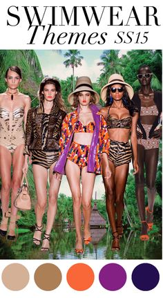 Trend Council:  Swimwear Themes SS15