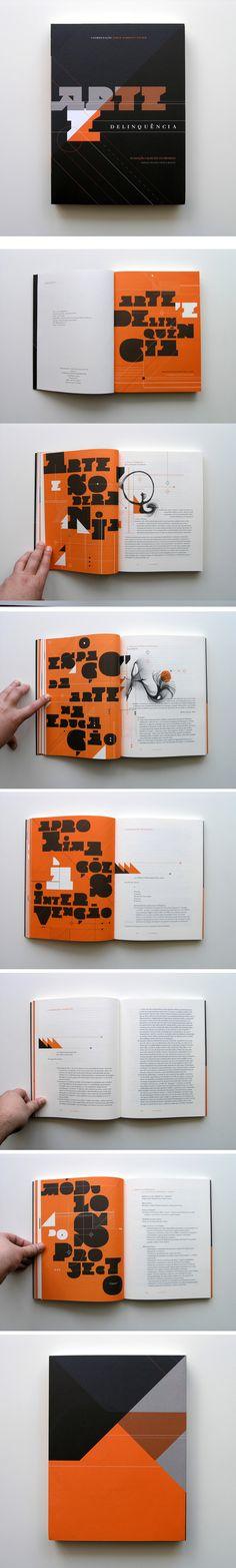 Arte e Delinquência type and graphic pattern goodness