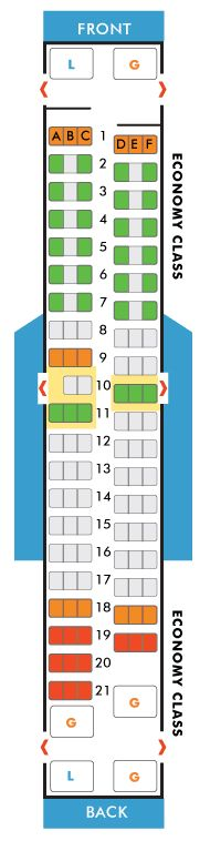 southwest airlines boeing 737-500 seating map aircraft chart