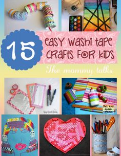 15 Easy Washi Tape Crafts for Kids from MommyTalks