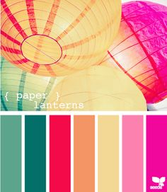 love color palett, color combo, idea, design seeds, paper lantern, colors, papers, lanterns, color scheme