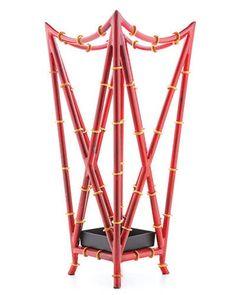 Chinoiserie umbrella stand from Lexington Gardens; lexingtongardensnyc.com.