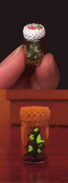 Dollhouse Miniature Jar of Fireflies by Sheila A. Nielson on Etsy