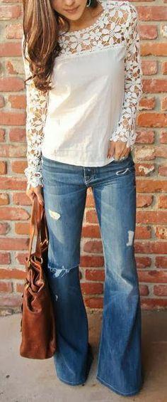 Cut Out Crochet Top--so cute! #fashion #crochettop