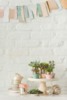 garland idea - but with vintage fabric?