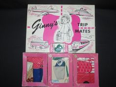 """VINTAGE 1950s ORIG VOGUE """"GINNY'S TRIP MATES"""", 3 BOXED OUTFITS & BOXED SHOES LOT #ClothingAccessories"""