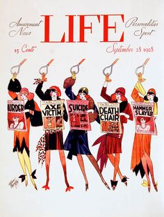 Life Magazine, September 28, 1928. Artist: Russell Patterson  This comic artist studied at the Chicago Institute of Art and under Claude Monet in Paris from 1920-1925.