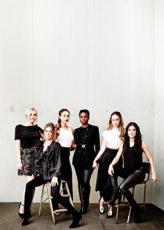 Alycia Debnam Carey,??Eliza Taylor, Lindsey Morgan,??Marie Avgeropoulos, Paige Turco, Adina Porter????2016 Winter TCA Tour Portraits. SO MUCH PRETTY!