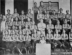 Class photo of male students at Vaipouli College (also known as Salafai College), Savai'i Island, Samoa, ca 1930. Author: Unknown