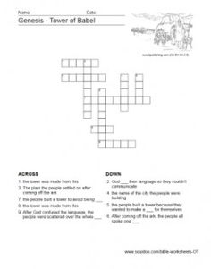 Bible Worksheets - Old Testament