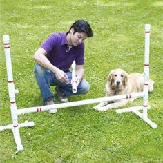 Awesome! -> How to make a dog agility course yourself using PVC pipes #dogs