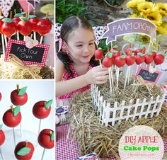 DIY Apple Cake Pops great for back to school parties or teacher's gifts  #cakepops #apple #backtoschool #partyideas