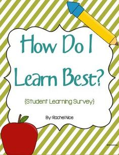 Free student learning survey! Start off the year asking students how they like to learn. Comes in color and blackline!