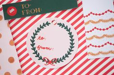 Printable holiday gift tags from The Sweetest Occasion