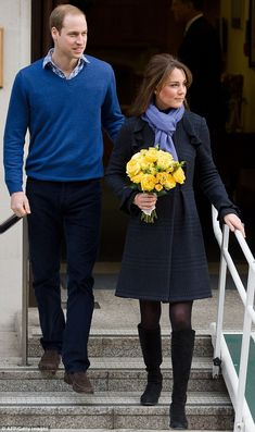 Looking well: Kate, who is less than 12 weeks pregnant, was wrapped up against the cold in a coat and scarf, and the royal couple will now spend time at their London home to allow for the Duchess to recuperate