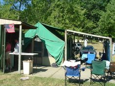 Camp Dearborn and the green tents.
