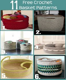 Quartered Heart Crochet: 11 Fabulous and FREE Crochet Basket Patterns