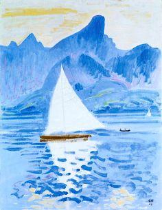 bofransson:  Cuno Amiet (Swiss, 1868-1961), Thunersee mit Stockhornkette