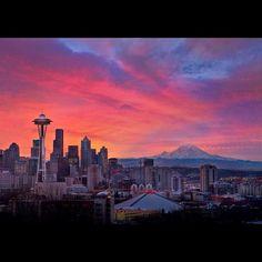 Seattle, Washington and Mt. Rainier...simply beautiful! #yankinaustralia #seattle