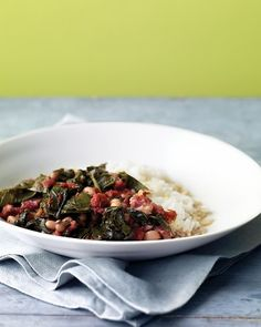 Braised Collards with Tomatoes via Martha Stewart