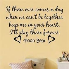 heart, sweet quotes, bears, wall decal, motivational quotes, pooh bear, winnie the pooh, kid room, babies rooms