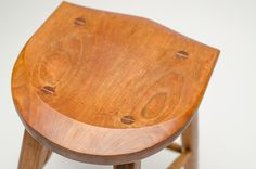 Cherrywood barstool. Modern wood design. Handcrafted by Fabian Fischer