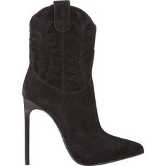 """""""Shoe du Jour"""" 11.21.14 Saint Laurent Western-Stitched Paris Stiletto Boots « Shoefessional"""