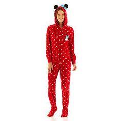Minnie Mouse One-Piece Footie Pajamas. #MinnieStyle