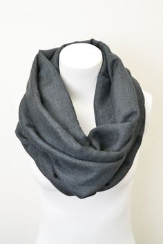 Mens Suiting Inspired Infinity Scarf.