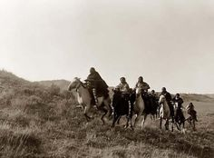 Here for your browsing pleasure is an extraordinary photo of Return of the Scouts. It was made in 1910 by Edward S. Curtis.    The photo documents Cheyene Indians riding Wild Mustangs. The horses are shown in a full gallop.    We have compiled this collection of photos mainly to serve as a vital educational resource.  #GeorgeTupak