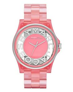 Marc by Marc Jacobs Gradient Henry Skeleton Silicone in Coral