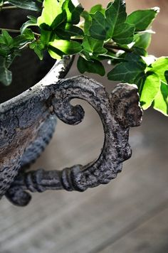 I adore vintage urns and ironwork of all kinds