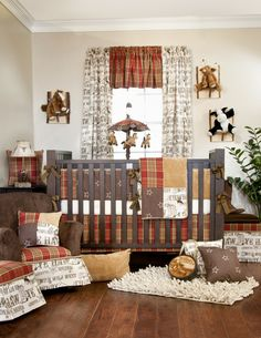 Carson 3 PC Cowboy Glenna Jean Crib Baby Nursery Bedding Set Boy New | eBay