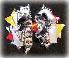 Zebra Print Minnie Mouse Boutique Hair Bow by MyBellaBellaBowtique, $6.75