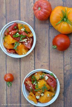 Heirloom Tomato Salad http://www.fearlessdining.com