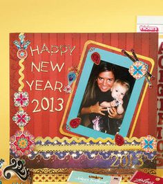 Happy New Year Scrapbook Page