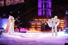 "Lady Marmalade meets the Fame Monster. Christina Aguilera and Lady Gaga squash talk of a long-standing feud with a performance of ""Do What U Want"" on ""The Voice"" on Dec. 17 in Los Angeles"