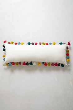 colorful tassel pillow