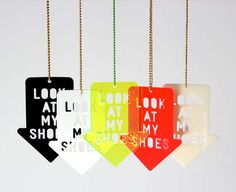 'Look At My Shoes' Necklace by Zubinski  #Christmas  #Zubinski #necklace