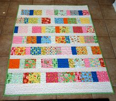 Pin. Sew. Press.: A Quilt for Lauren, uses lots of fabrics