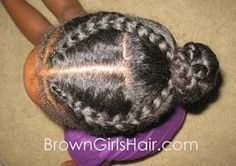 ♥Brown Girls Hair♥: Easy Natural Cornrow Hairstyle for Girls