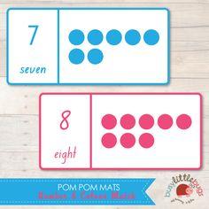 Pom Pom Number and Colour Match